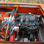 Barca taiat stuf C485 - Detaliu Motor Diesel de Ultima Generatie