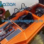 Barca taiat stuf C485 - Compartimentul operatorului complet separat de cel al motorului