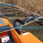 Barca taiat stuf C485 - Taierea stratului vegetal emers si submers