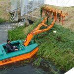 Barca taiat stuf C485 - Bascularea ierburilor pe mal