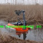 Amfibie Utilitara C580 H - Mutarea spre o noua lucrare in Delta Dunarii