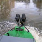 Impingator aluviuni - Rotile pentru adancimi mici si cele 2 elice