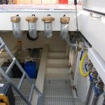 Compartimentul motor si tubulaturile aferente rezervoarelor de combustibil