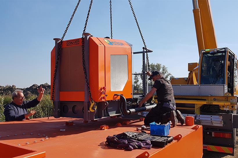 Instalarea unui set de navigatie Conver - motorul si comanda