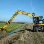 Herder – extensie brat excavator • extinderea bratului creste raza de acoperire