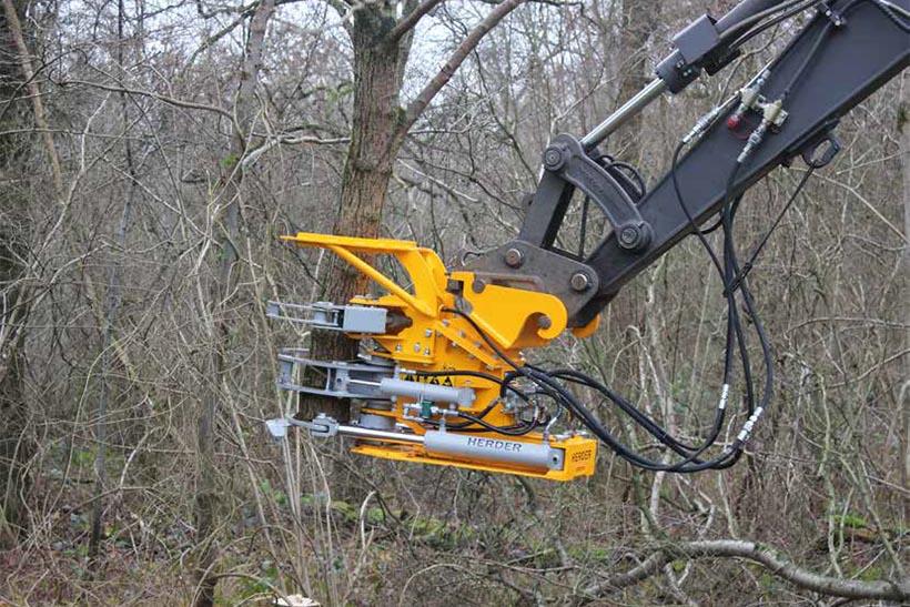Herder - foarfeca pentru copaci • permite taieri si prinderi mutiple la o singura operatiune