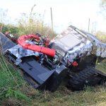 Conver CR10 • ataca pante abrupte laterale si este foarte stabil datorita sistemului de senile extensibile hidraulic pe latime