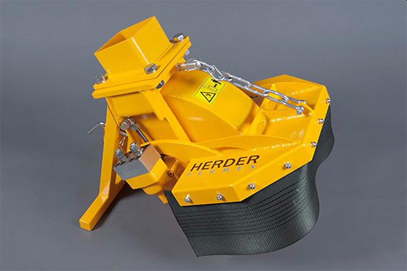 Distrugator buturugi si radacini atasat brat excavator • Herder-Fermex SCE-410H