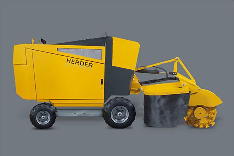 Distrugator buturugi si radacini autopropulsat • Herder-Fermex SCW-550H